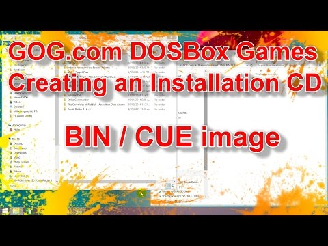 Create Installation CD From GOG.com DOSBox Games With BIN / CUE Image