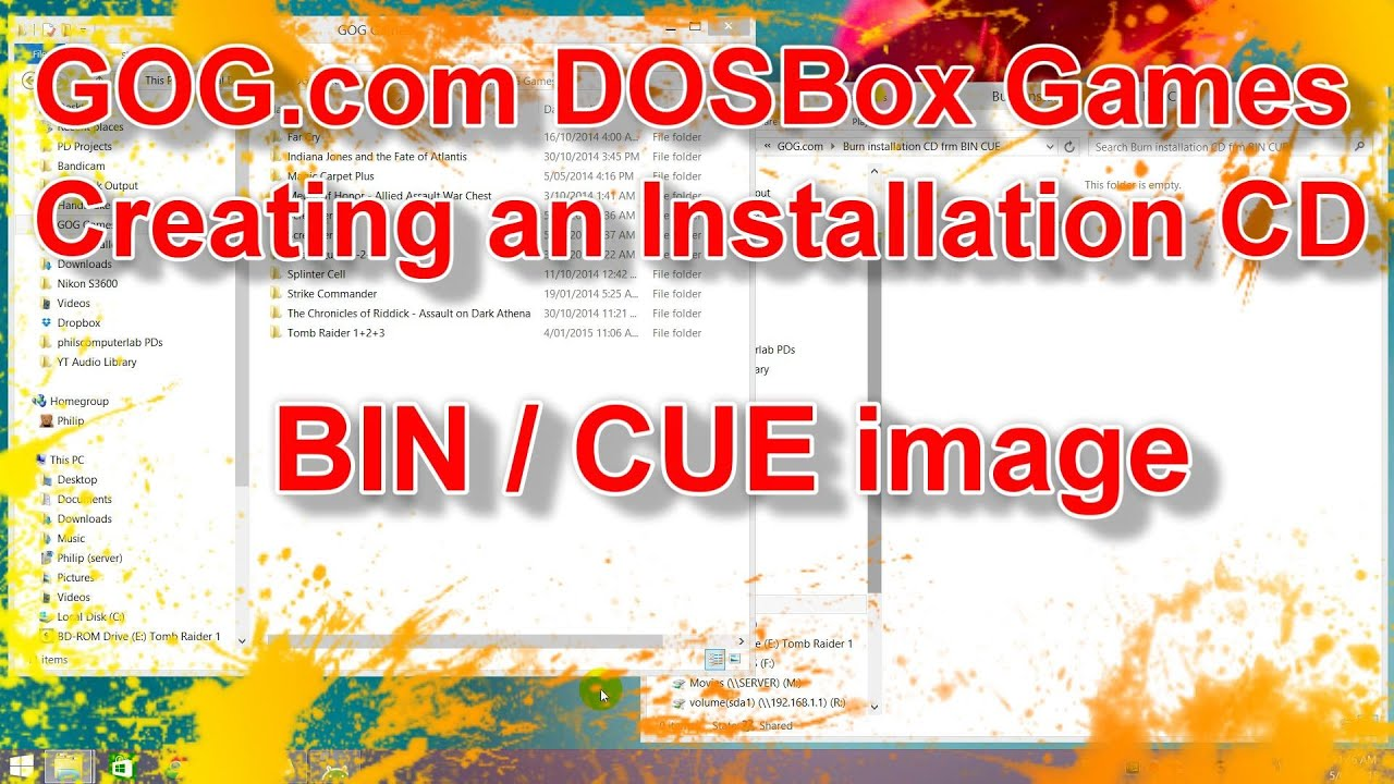 cd image bin: