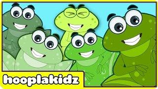 Five Little Speckled Frogs | Nursery Rhymes by HooplaKidz