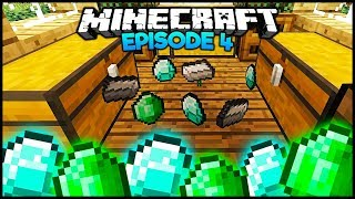 Minecraft: I Found Diamonds & Emeralds! - Episode 4 (Survival Let's Play)