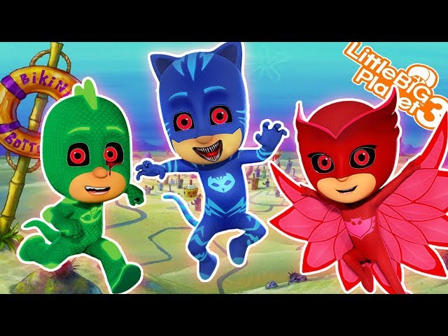 PJ Masks Wreck SpongeBob | LittleBigplanet3