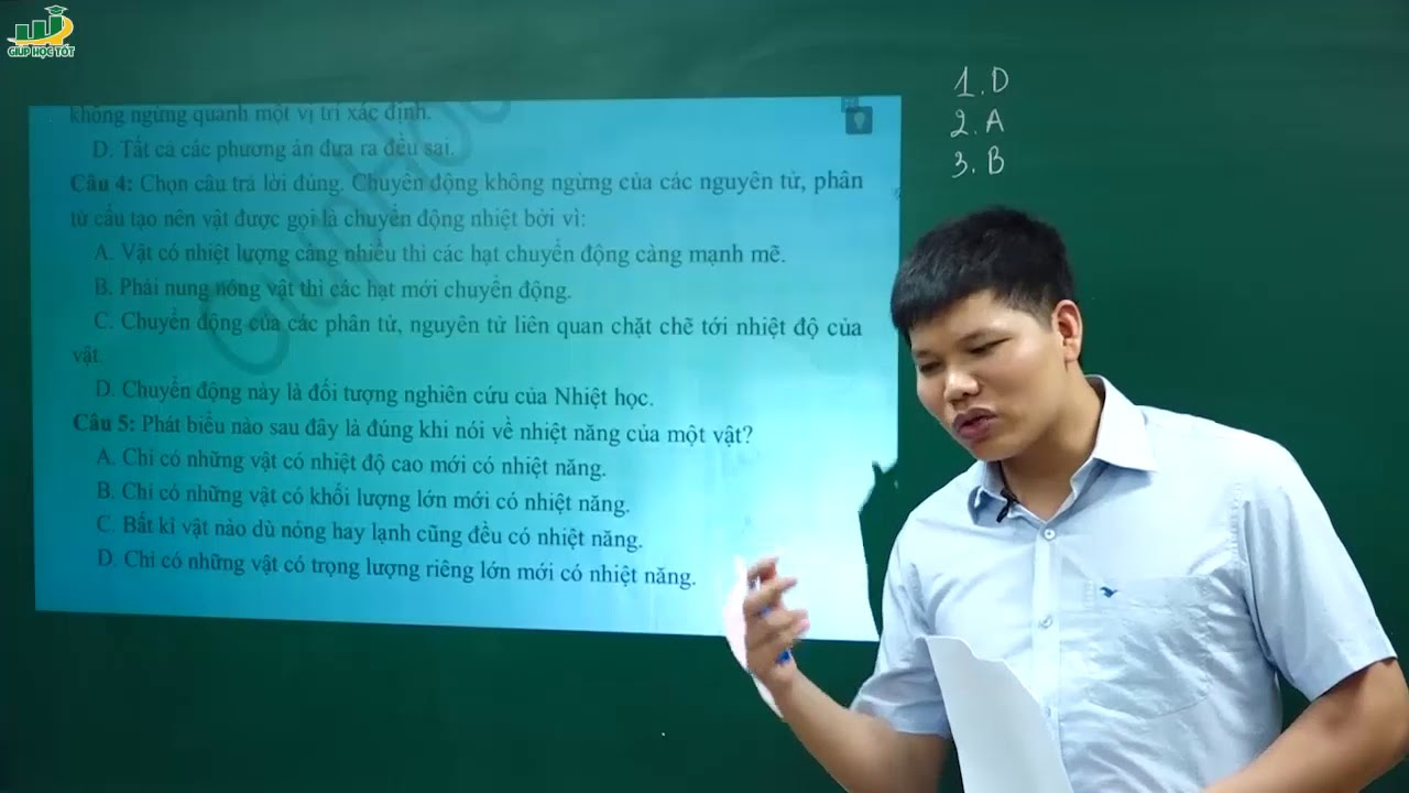 Vật Lí lớp 8 - Đề thi Cuối Học Kì 2 môn Vật Lí lớp 8 Đề 1 (P1)|Đề cương ôn tập kiểm tra –Trắc nghiệm
