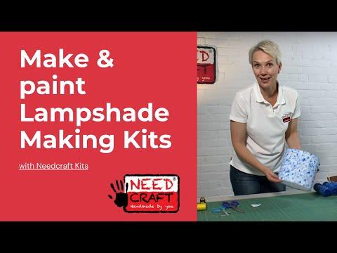 Make & Paint Lampshade Making Kits