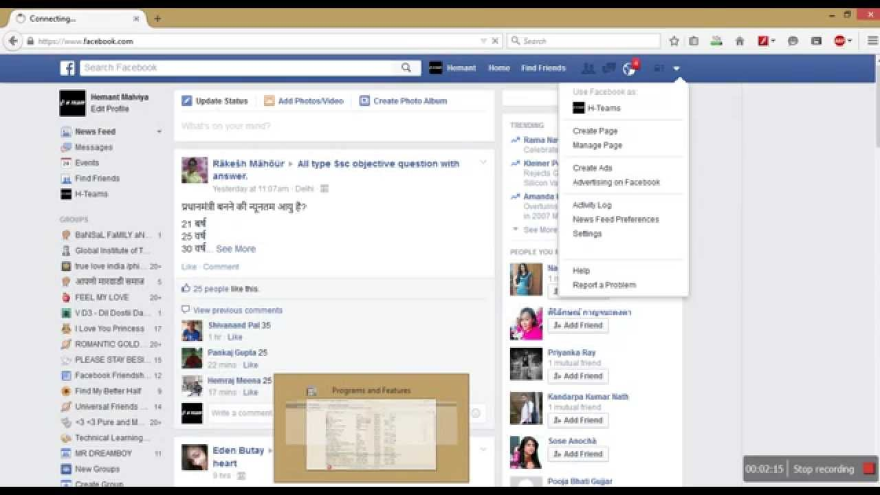 Login Facebook Sign Up Facebook Login Page Facebook