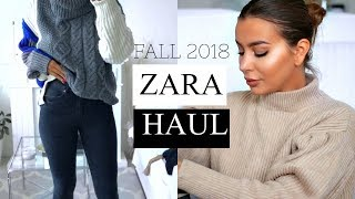 ZARA TRY ON HAUL 2018 Fall Edition