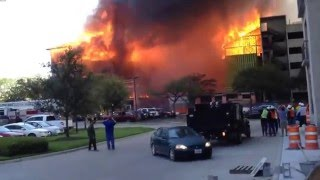 Repeat youtube video Massive 5 alarm luxury apartment fire in Montrose Houston, TX