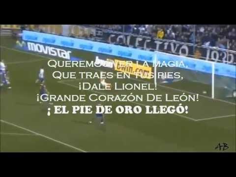El Pie De Oro Llegó - Letra - Lionel Messi