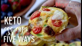 Keto Egg Cups Five Ways | Gluten Free Breakfast Meal Prep