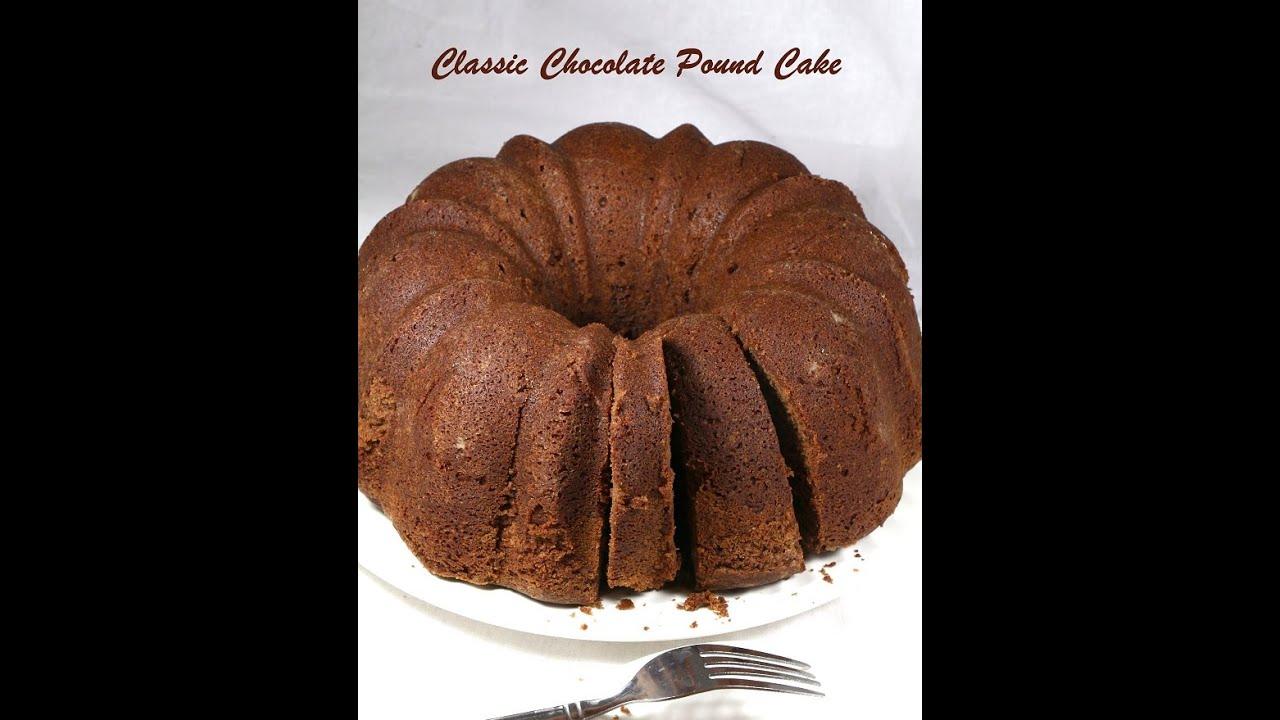 Pound Eggless Chocolate Cake Recipe