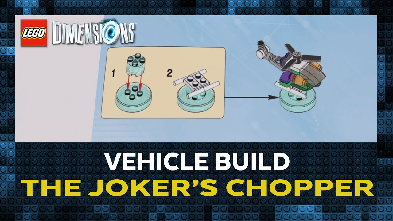 lego dimensions the joker 39 s chopper construction youtube. Black Bedroom Furniture Sets. Home Design Ideas