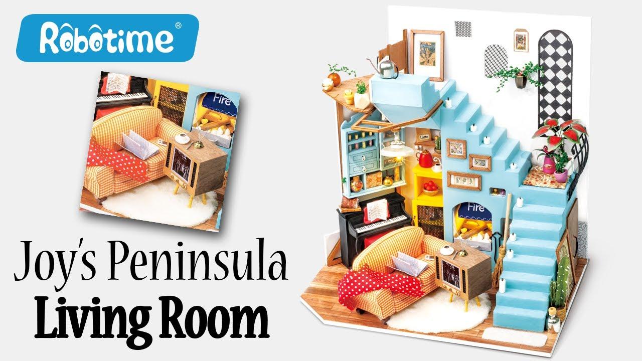 DIY Miniature Dollhouse Kit || Joy's Peninsula Living Room - Miniature Land