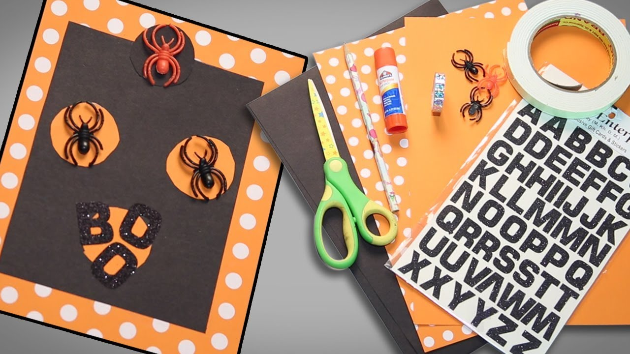 Halloween greeting card do it yourself card making looke art and halloween greeting card do it yourself card making looke art and craft solutioingenieria Images