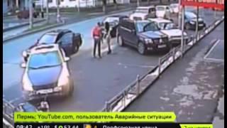 """""""Дикая автоледи"""" из Перми напала на водителя Lada"""