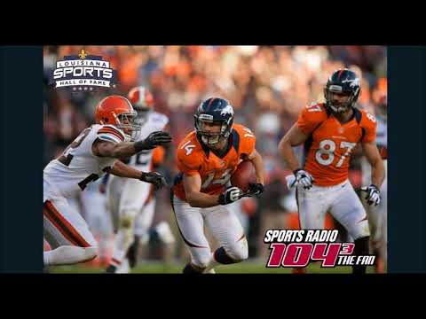 Brandon Stokley finds out about Louisiana Sports Hall of Fame induction live on radio