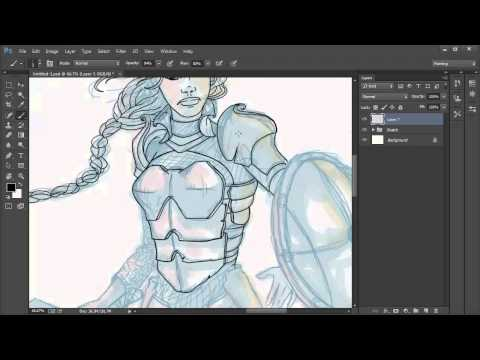 Fundamentals of Digital Painting: 04 How to Create Line Art