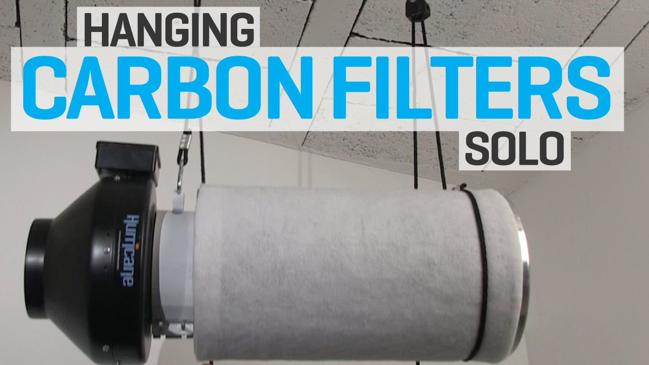 how do i hang a carbon filter on my own