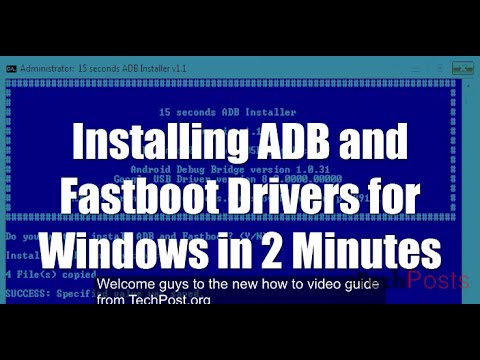 How to Install ADB and Fastboot Drivers in 2 Minutes in Windows