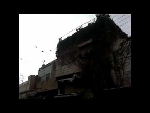 شام ؛؛  دمشق المزة ؛؛مظاهرات الاحرار دعم الجيش الحر ؛؛ 13 1 2012جـ1