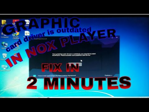 Graphic card driver is outdated in nox player showing/fix in 2 minutes/nox player problem solved