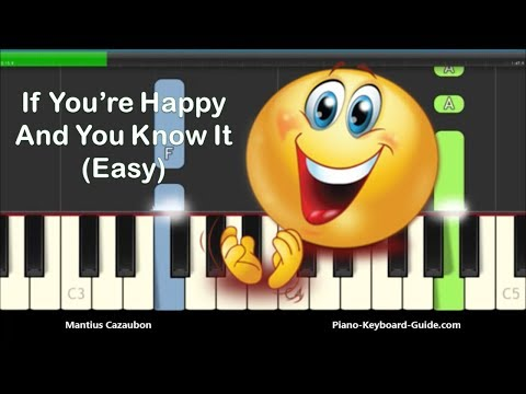 If You're Happy And You Know It Clap Your Hands Easy Piano Tutorial