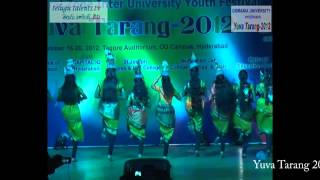Yuva Tarang 2012 Central Zone Inter University Youth Festival  at Osmania University Video 2