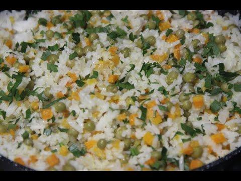 Гарнир из риса с овощами