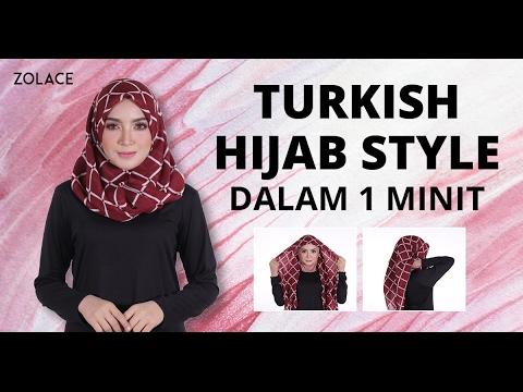 Shawl Tutorial 2017 -  Cara Untuk Melakukan Turkish Hijab Style Dengan Tudung Bawal Anda