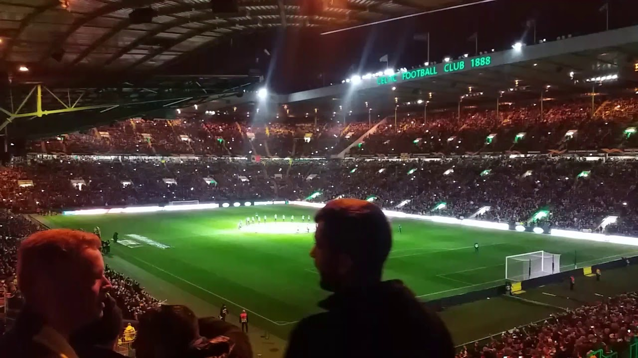 Celtic FC v CFR Cluj - Europa League - 03/10/19 - Light Show & You'll Never Walk Alone #YNW