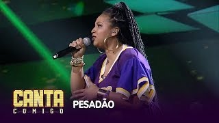 Alinne Alves empolga 65 jurados com o hit Pesadão, mas é eliminada do Canta Comigo