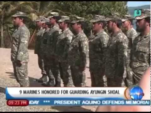 NewsLife: 9 marines honored for guarding Ayungin Shoal || Mar. 31, '14