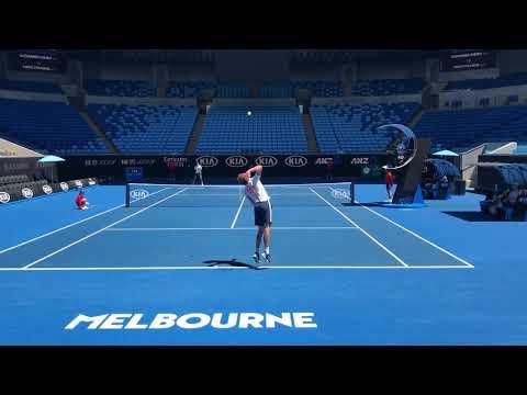 Alexander Zverev practice with Jason Kubler 2019 AO (HD)