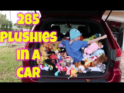 Gavin Stuffs his Dads car full of ENTIRE PLUSH COLLECTION Gavins tv My Plush Collection