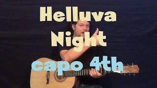 Helluva Night (Ludacris) Easy Guitar Lesson Strum Chords Capo 4th Fret How to Play Mp3