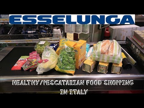 HEALTHY FOOD SHOPPING IN FLORENCE, ITALY VLOG| ESSELUNGA