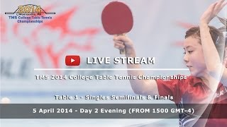 Baixar 2014 TMS College Table Tennis Championships - Day 2 Evening - Table 1 (Singles Finals)