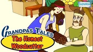 Grandpas Treasure Of Tales -The Honest Woodcutter - Funny Animated Stories