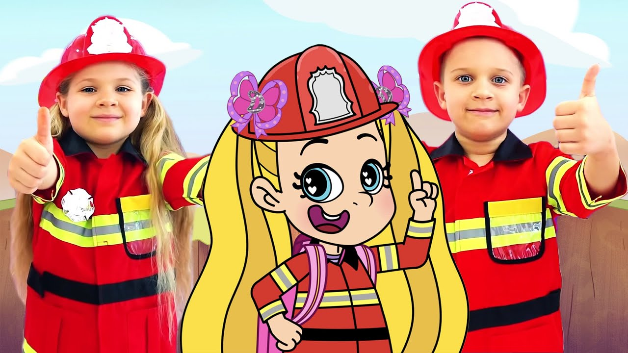 Diana and Roma Police and Fire Hero Pretend Play Adventure