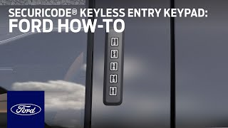 homepage tile video photo for Ford SecuriCode® Keyless Entry Keypad   Ford How-To   Ford