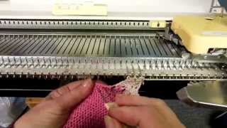 Machine Knitting Experiences: Raised Diagonal Half-cable Trim (part 1) By Carole Wurst