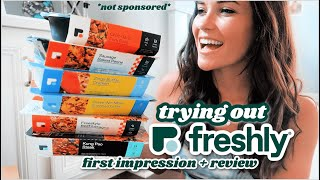 TRYING OUT FRESHLY MEALS *not sponsored* || HONEST REVIEW  Are Precooked Packaged Meals Worth It??