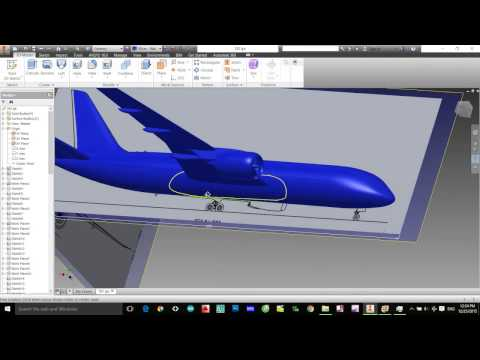 Inventor 2015- Tutorial : How to design An Aircraft on Inventor- Boeing 787- Part 6 _ end ( BETA)