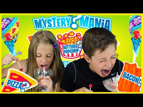DUM DUMS MYSTERY MANIA CHALLENGE! 13 FLAVORS! PIZZA POPCORN BACON LOLLYPOP TASTE TEST by PLP TV