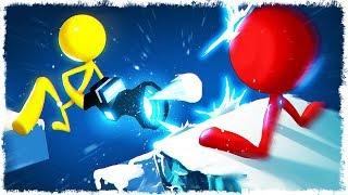 ЛЕДЯНАЯ ПУШКА vs ЧЕЛОВЕЧЕК В STICK FIGHT THE GAME!!!