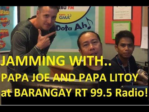Foreigner jamming in 99.5 RT Philippines Radio Station - Papa Joe and Papa Litoy Pinoy Radio Station