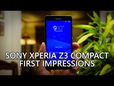 Sony Xperia Z3 Compact Unboxing and First Impressions