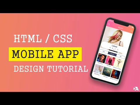 Mobile app design tutorial in HTML and CSS | Speed Coding thumbnail