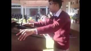 Urdu Debate By Talal Masaud on topic: `Bol Kay Lab Azaad Han Teray