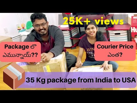 Guess | What's In 35kg Courier From INDIA To USA | Courier Price From India? | Telugu Vlogs From Usa
