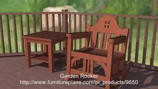 Garden Rocker Woodworking Plans