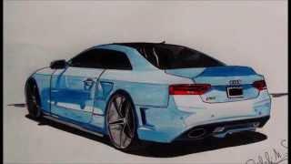 Cars drawing - dessin de voiture : les étapes